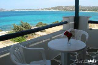 accommodation orkos view balcony
