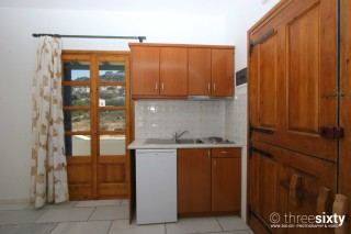 accommodation orkos view kitchen