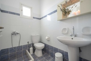 apartments orkos view bathroom area