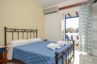 apartments orkos view bedroom area