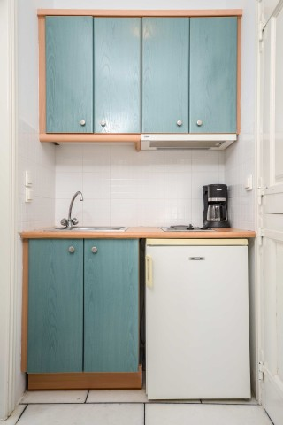 apartments orkos view kitchenette